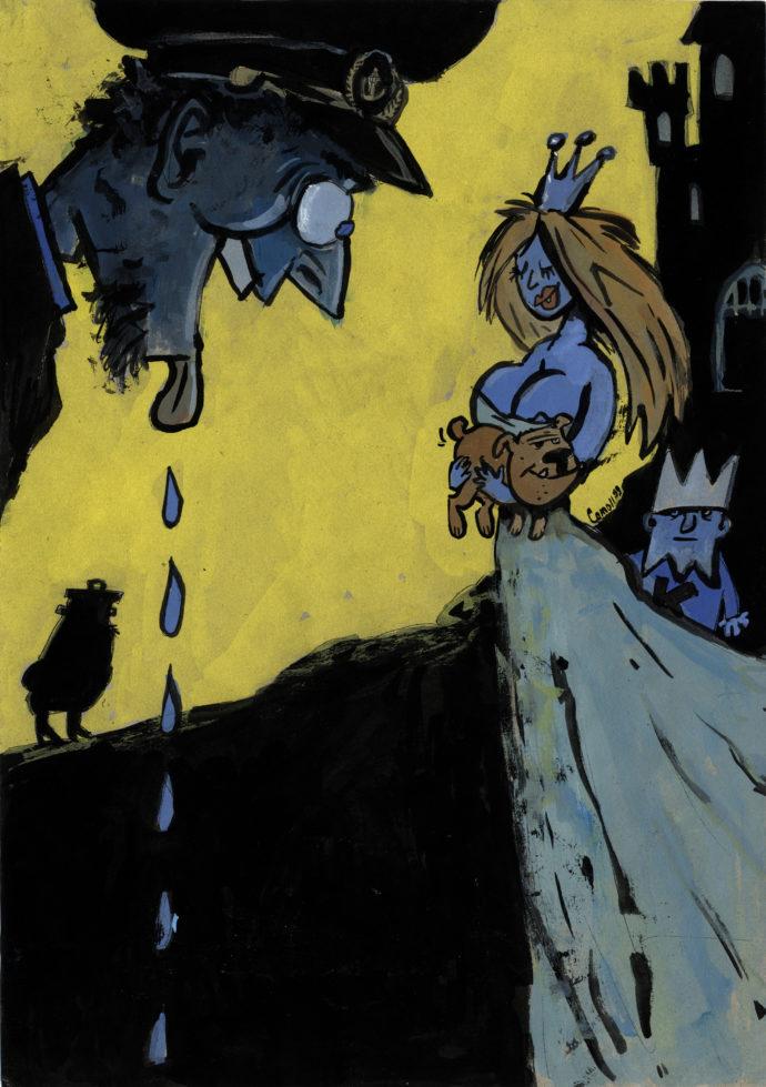 Udsondringer, prinsesse og hund