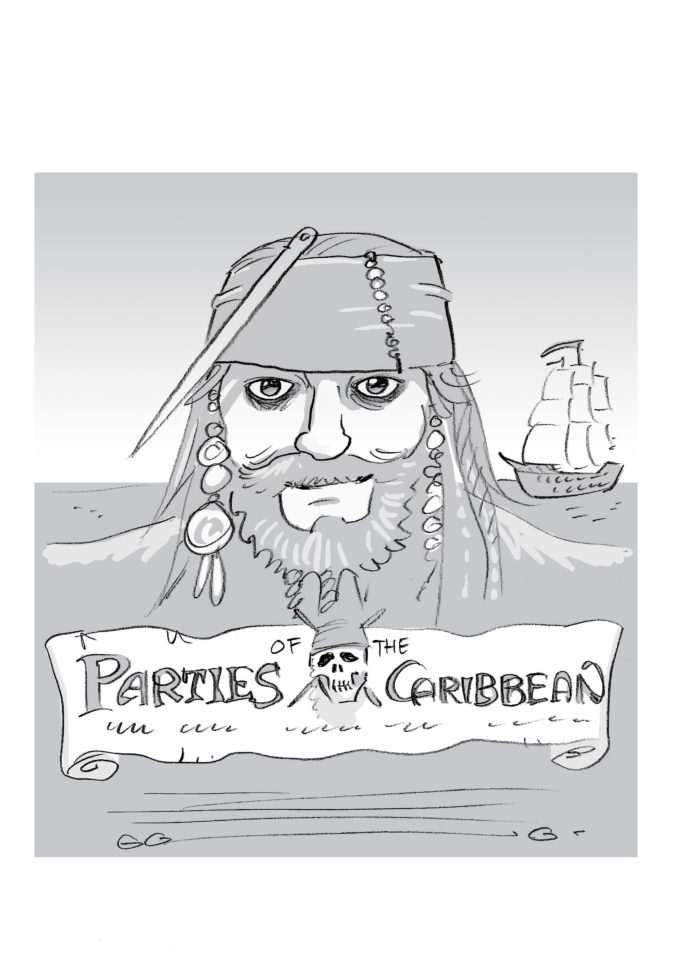 Parties of the Caribbean, mock-up poster