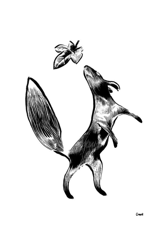 Dyr og blad