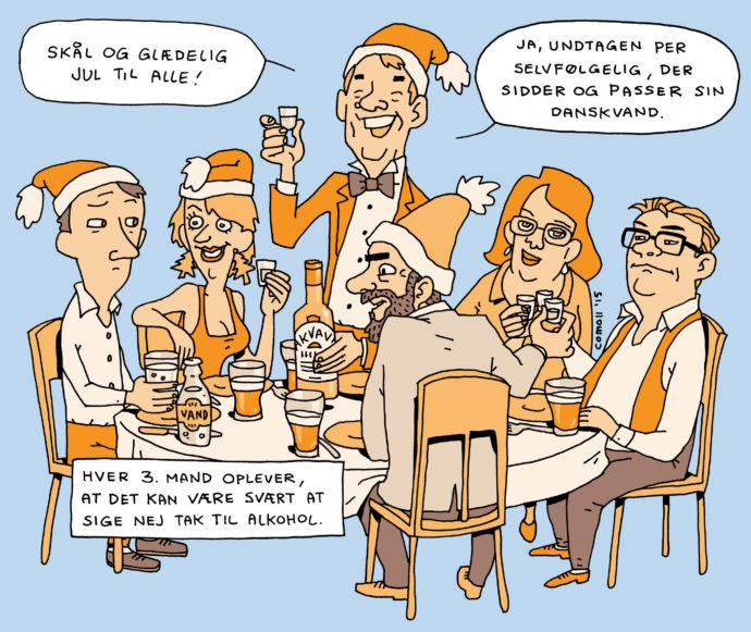 Alkoholkampagne julefrokost
